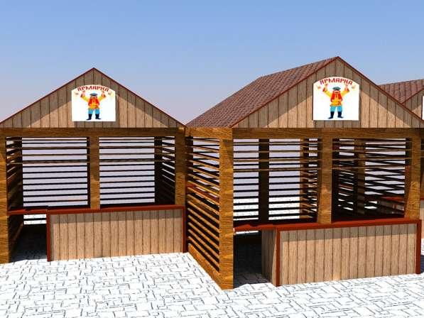 Изготавливаем деревянные ярмарочные домики в Ростове-на-Дону фото 3