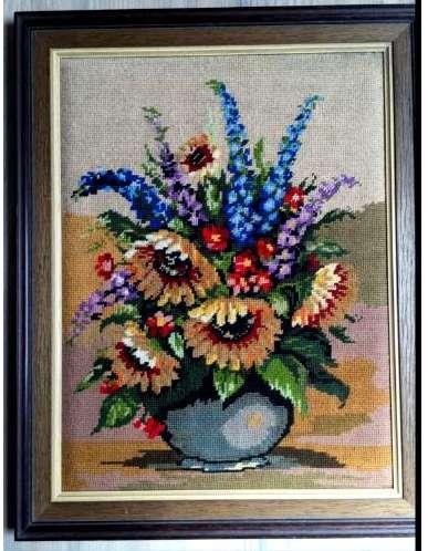 Букет цветов. Гобелен