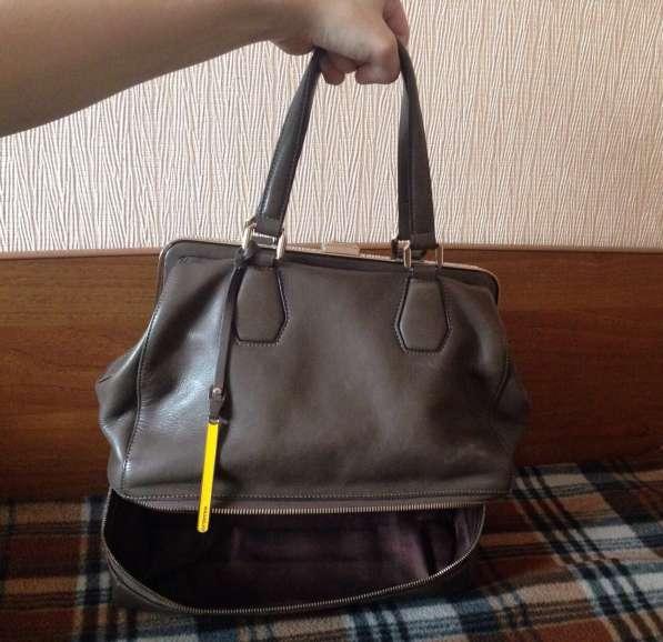 Сумка коричневая, на коротких ручках, cromia