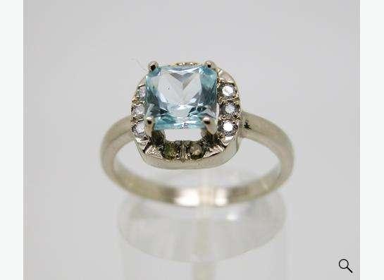 Золотое кольцо с принцессой Топаза и бриллиантами. в Москве фото 3