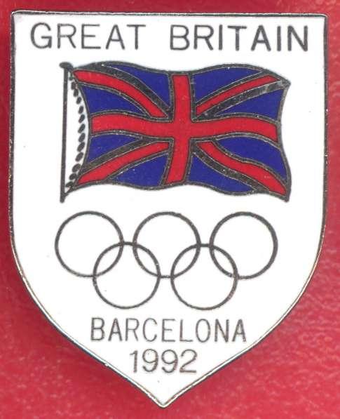 Знак члена олимпийской команды Англии Барселона-92