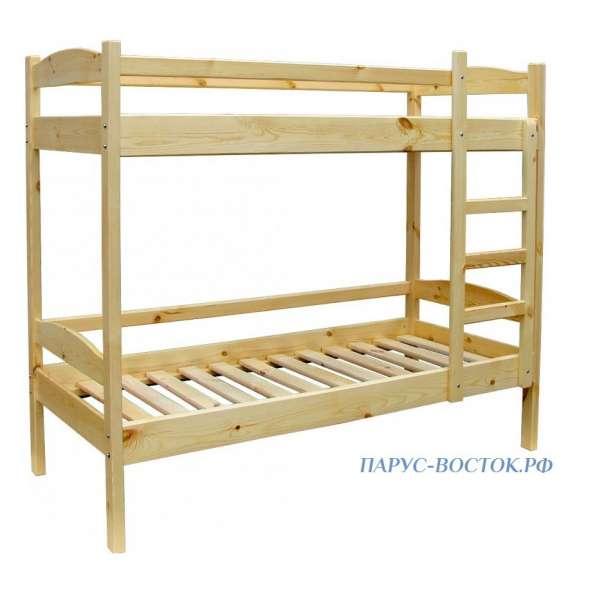 Кровать деревянная двухъярусная из массива сосны