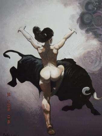 Работа от РИКО Танец с быком !