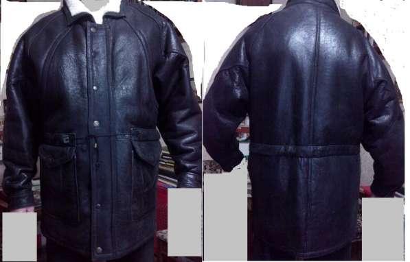 Б. у. кожаная куртка утеплённая 60 р-р