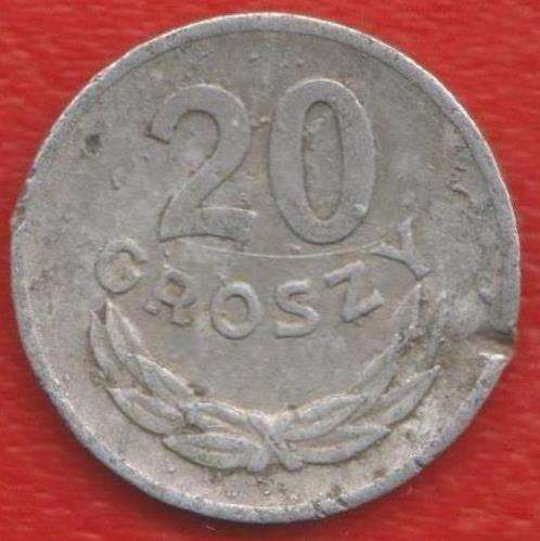 Польша 20 грош 1973 г. без знака мондвора