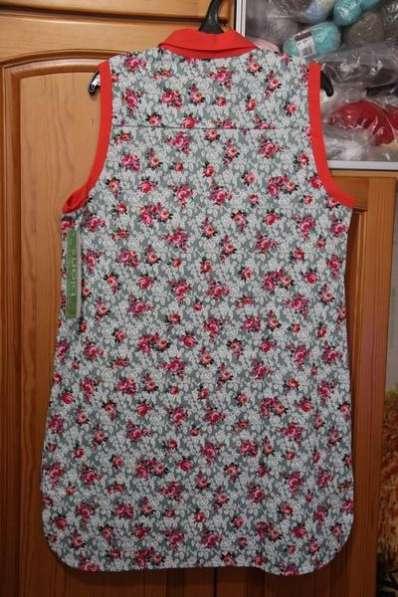 Туника-рубашка из хлопка, размер 54-56