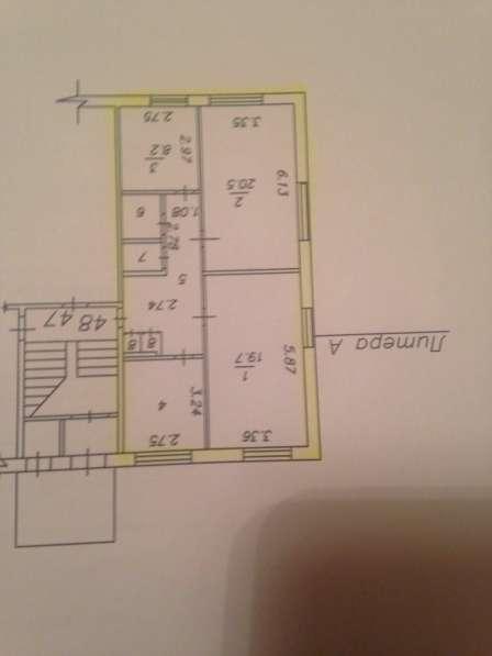 Трехкомнатная квартира, 71,4кв. м.1 этаж. Большие комнаты