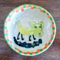 """зеленая мисочка-салатница """"желтая собачка"""", в г.Иерусалим"""