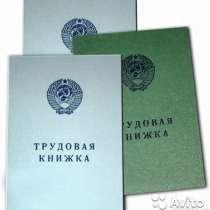 Трудовая книжка ст. образца 1974 г серия АТ, 3.4,5,6.7,8,9, в Новосибирске