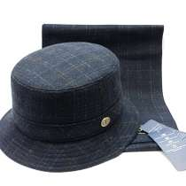 Шляпа панама мужская шерстяная Finland шарф (набор), в Москве