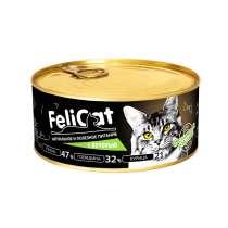 FeliCat Консервы мясные для кошек с печенью, 290 гр, в Санкт-Петербурге