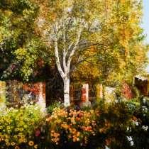 """Картина маслом """"Заброшенный сад"""", в Москве"""