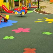 Резиновое покрытие для детской площадки, в Москве