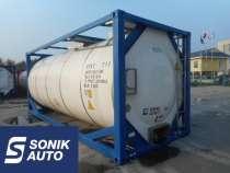 Танк-контейнер для перевозки опасных химических веществ, в Владивостоке