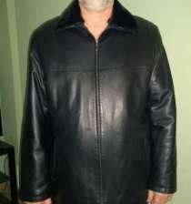 куртка черная кожаная 56 р-р, 5 рост  классика, в Челябинске