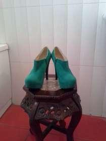 Эффектные зеленые ботильоны ami clubwear, в г.Черкассы