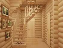 Деревянная дверь из массива сосны, в г.Бор