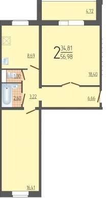 2к Маршака новый дом собственность, в Тюмени