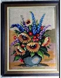 Букет цветов. Гобелен, в г.Франкфурт-на-Майне