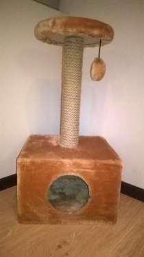 Домик-когтеточка для кошек коричневая, в Таганроге