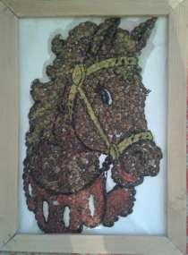 Картина из арбузных косточек, в г.Бишкек