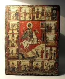 Икона под старину Чудо Георгия о змие, в г.Николаев