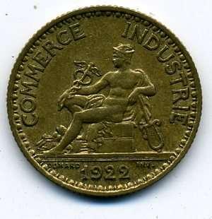 Франция 1 франк 1922 г. в качестве