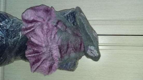 Берет и шарф из шерсти новые