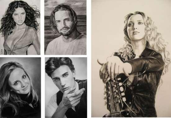 Портреты по фотографии на заказ. Услуги художника