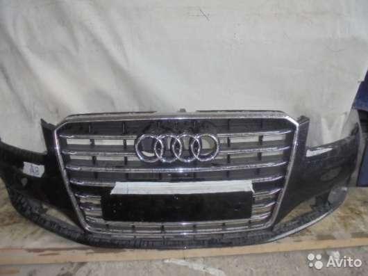 Передний бампер с решеткой на Audi A8 D4