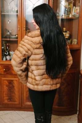 Норковая куртка автомобилка, golden pastel, 42-44 в г. Симферополь Фото 1