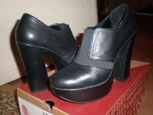 Туфли из натуральной кожи, на платформе.37р