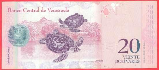 Венесуэла 20 боливаров 2013 г