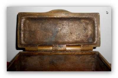 Шкатулка.Бронза 18 век. Клеймо1779г. в Иванове Фото 1