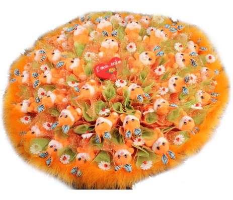 Букеты из цветов, игрушек и конфет в Москве Фото 5