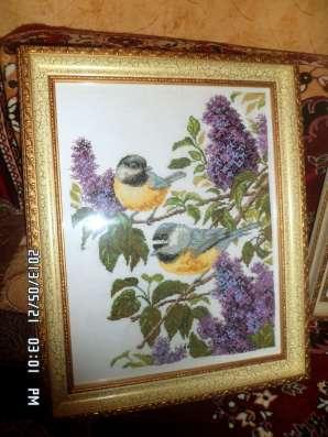 Картины ручная работа ниткой и бисером