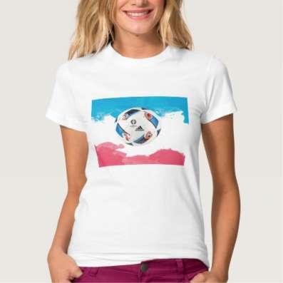 Стильная женская футболка на тему ЕВРО-2016 во Франции в Москве Фото 1
