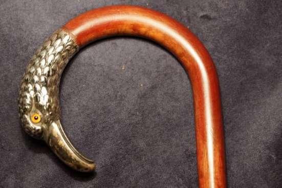 Трость прогулочная с серебряной рукояткой. Европа, XIX век