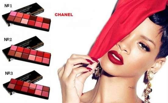 Профессиональная палитра помад для губ Chanel 370 руб. :)