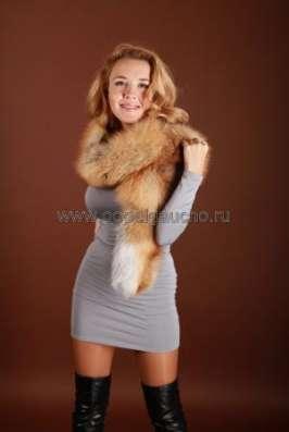 Шарфы, съёмные воротники из лисы и чернобурки в Москве Фото 2