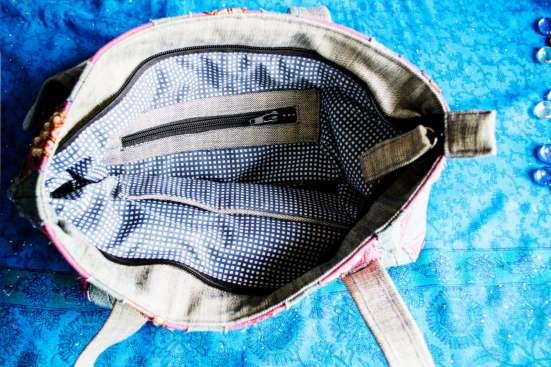 Джинсовая женская сумка через плечо