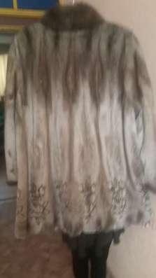 Шуба норковая с лазерным рисунком в г. Зима Фото 1