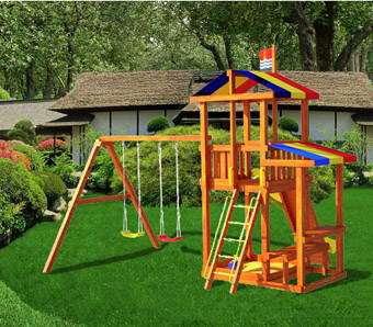 Детские комплексы, декоративные изделия из дерева