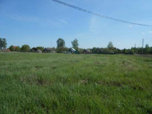 Земельный участок 19 соток в деревне Бычково Можайский р-он, 121 км от МКАД по Минскому шоссе.
