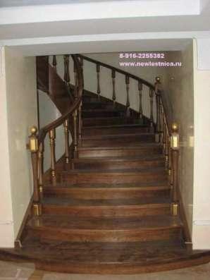 Лестницы деревянные из массива Новая Лестница в г. Долгопрудный Фото 1