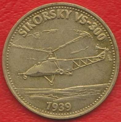 Жетон Shell Шелл Авиация Сикорский VS 300 1939