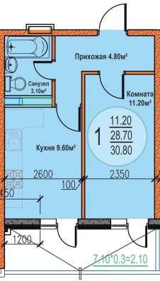 1 км. кв в строящемся доме в Краснодаре Фото 1