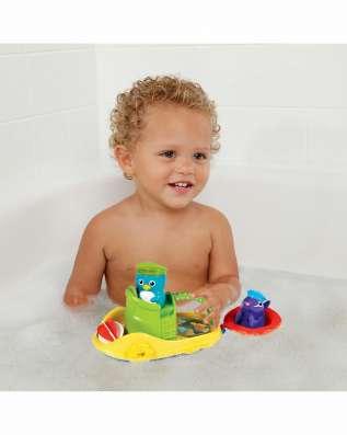 Игрушка для ванной веселая лодочка от 12 мес. munc