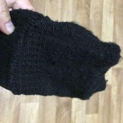Вязанные тёплые перчатки