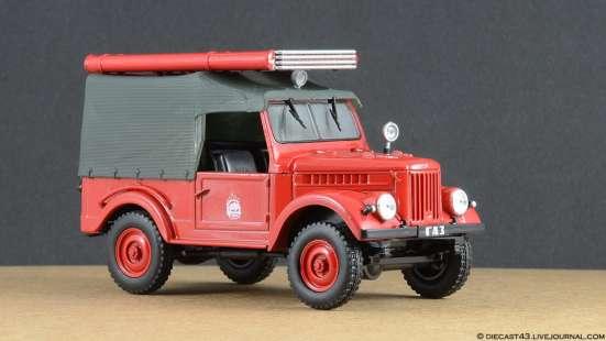 автомобиль на службе №3 Газ-69 ПМГ-20 (пожарный)